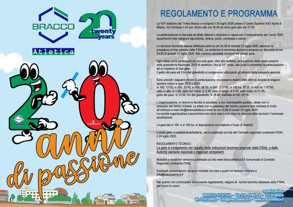 interno 1024x724 - VIII° TROFEO BRACCO - MILANO, 25 LUGLIO 2020