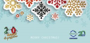 biglietto natale 300x144 - Christmas abstract background with paper snowflakes